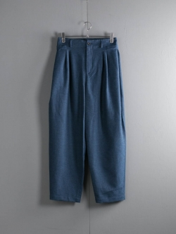 FRANK LEDER | TEXTURED COTTON TROUSER WITH SIDE CLOSURES Ice Blue サイドアジャスタートラウザーの商品画像
