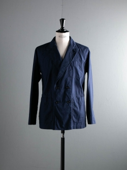 ENGINEERED GARMENTS | DL JACKET – MALIBU POPLIN Dk. Navy ダブルロイタージャケット