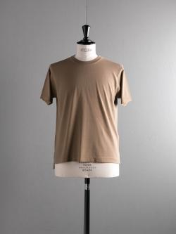 BATONER | BN-18SM-037 Khaki 32G強撚ニットTシャツ
