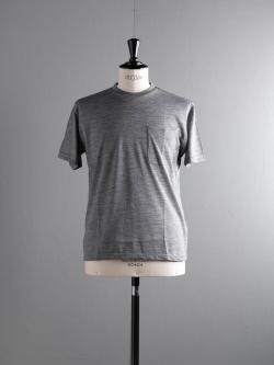BATONER | BN-18SM-031 Gray サマーウールTシャツの商品画像
