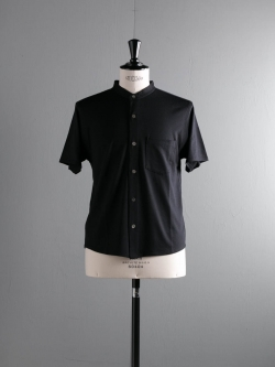 BATONER | BN-18SM-033 Navy サマーウール半袖シャツの商品画像