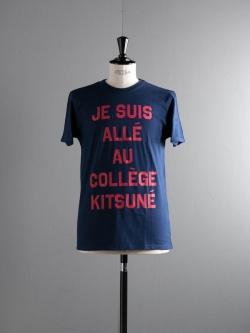 MAISON KITSUNE | TEE SHIRT JE SUIS ALLE Dark Blue 半袖プリントTシャツの商品画像