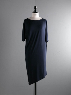 ABOUT | CONVENIENT2 DRESS Midnight Navy レーヨンドルマンスリーブワンピースの商品画像