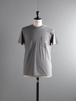 MAISON KITSUNE | TEE SHIRT FOX PATCH AMERICA Grey Melange アメリカンフォックスワッペンTシャツの商品画像