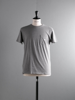 MAISON KITSUNE | TEE SHIRT FOX EMBROIDERED Grey Melange フォックス刺繍Tシャツの商品画像