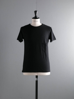 FilMelange | DIZZY Black 半袖クルーネック胸ポケTシャツの商品画像