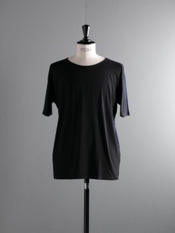 ABOUT | CRYPTIC6 T-SHIRT Solid Black/Midnight Navy レーヨンバイカラーTシャツの商品画像
