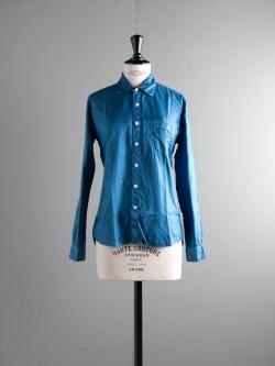 AULICO | SHIRT Sax プレーンツイルシャツ