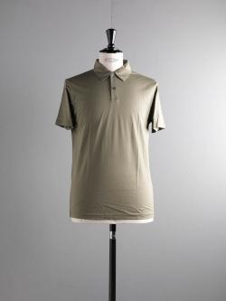 SUNSPEL | LONG-STAPLE COTTON POLO SHIRT Khaki Green 半袖ポロシャツの商品画像