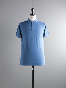 PIQUE RIB COLLAR POLO SHIRT Denim Blue