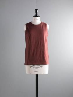 FilMelange | ELENI Red Brown 天竺ノースリーブTシャツの商品画像