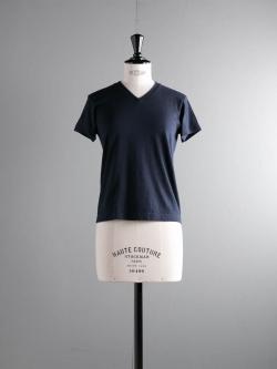 FilMelange | VICTOR GL Deep Navy 半袖VネックTシャツの商品画像