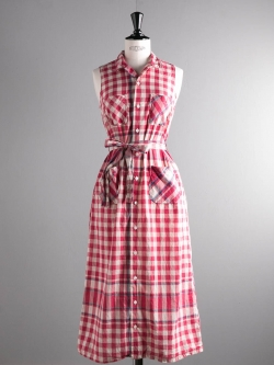 CLASSIC SHIRT DRESS - BIG PLAID MADRAS Red/Lt. Blu