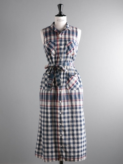 CLASSIC SHIRT DRESS - BIG PLAID MADRAS Nvy/Red