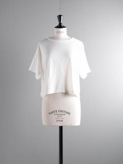 FilMelange | LENE White オーガニックラフィー天竺クロップドTシャツ レーネの商品画像