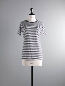 SUNSPEL | WOMEN'S COTTON CLASSIC T-SHIRT Navy/White ストライプTシャツの商品画像