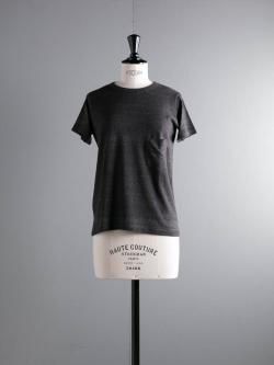 FilMelange | DIZZY GL Black Melange 半袖クルーネック胸ポケTシャツの商品画像