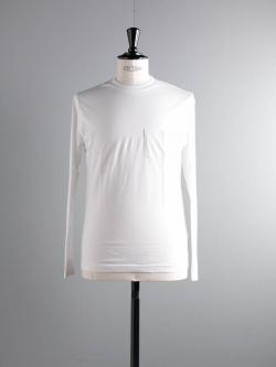 SUNSPEL | COTTON LONG SLEEVE POCKET T-SHIRT White ロングスリーブTシャツの商品画像