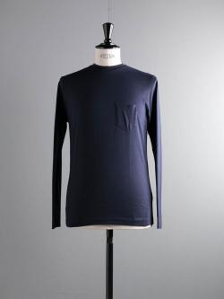 SUNSPEL | COTTON LONG SLEEVE POCKET T-SHIRT Navy ロングスリーブTシャツの商品画像