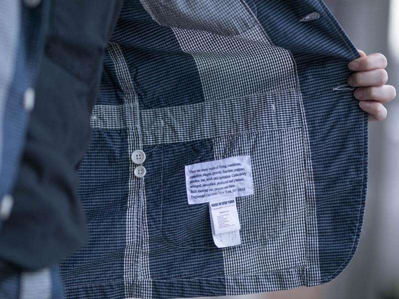 Engineered GarmentsのLoiter Jacketの内タグ