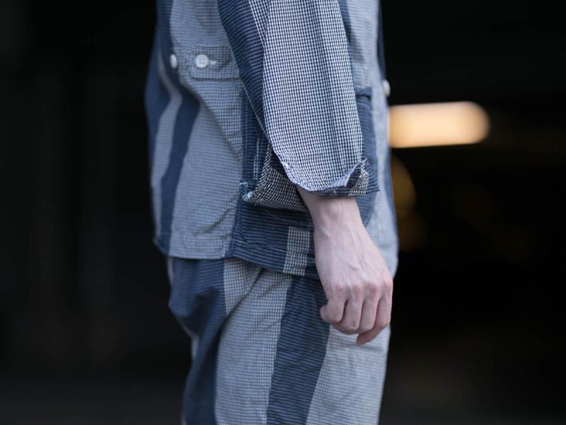 エンジニアドガーメンツのLoiter Jacketの袖口