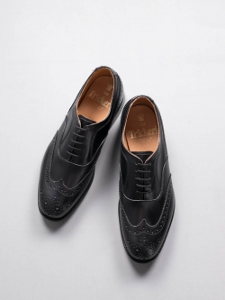 Tricker's | EMMA BROGUE OXFORDS Black ウィングチップオックスフォードシューズの商品画像