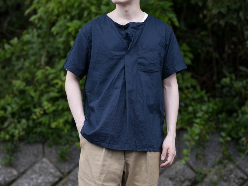 MED SHIRTのHIGH COUNT COTTON LAWN生地