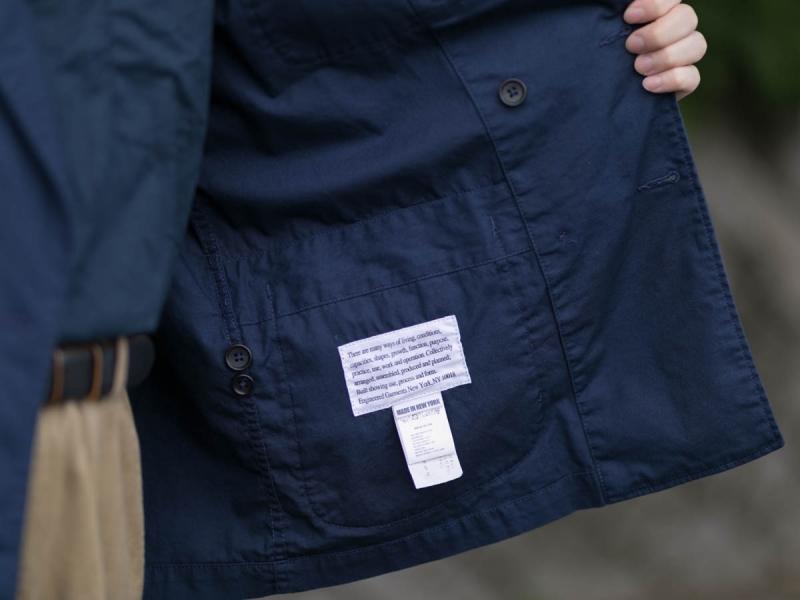 エンジニアードガーメンツのDLジャケットの内タグ画像