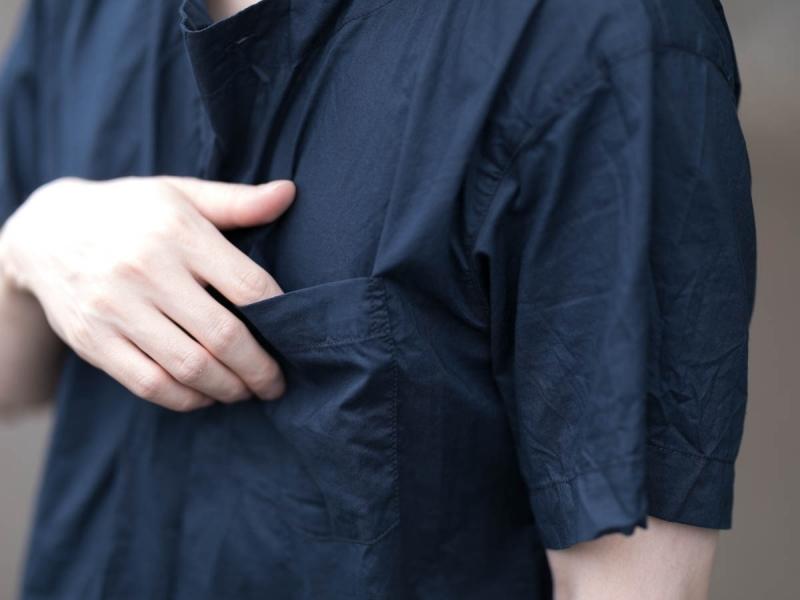 エンジニアードガーメンツのメドシャツの胸ポケット