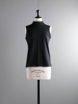 FilMelange | ETHEL Black モックネックノースリーブTシャツの商品画像