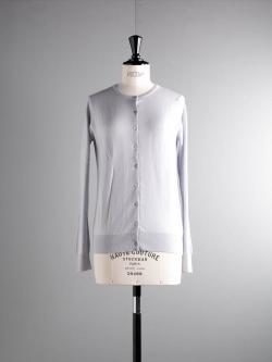 JOHN SMEDLEY | NAT Metallic Grey ウール24ゲージクルーネックカーディガンの商品画像