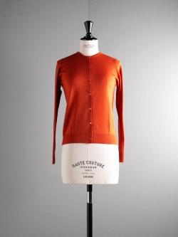 JOHN SMEDLEY | FLORENCE Flare Orange ウールクルーネックカーディガンの商品画像