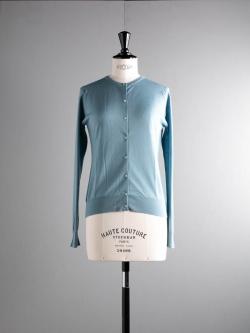 JOHN SMEDLEY | PANSY Summit Blue ウールクルーネックカーディガンの商品画像