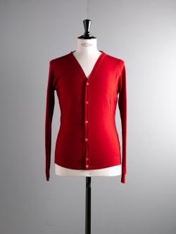 JOHN SMEDLEY | PETWORTH Crimson Forest ウールVネックカーディガンの商品画像