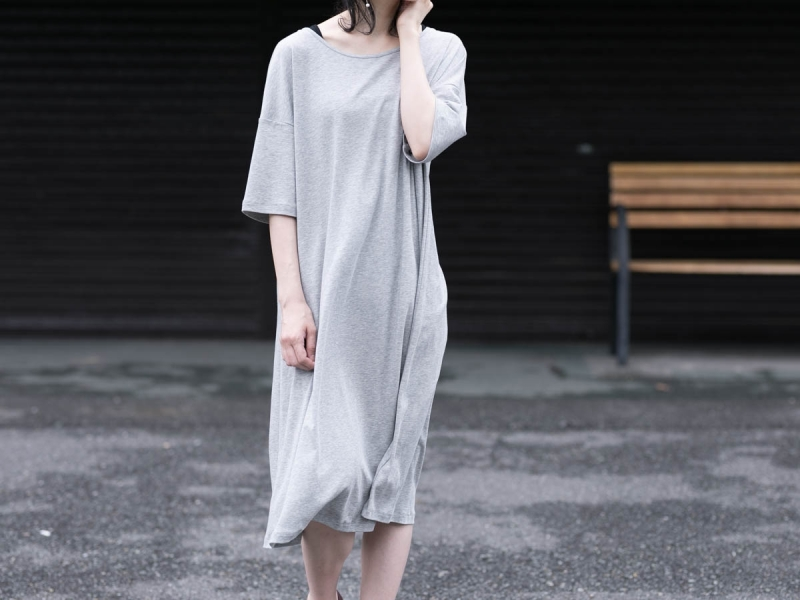 ABOUT the Sensology of Wearのコットンワンピースのグレー