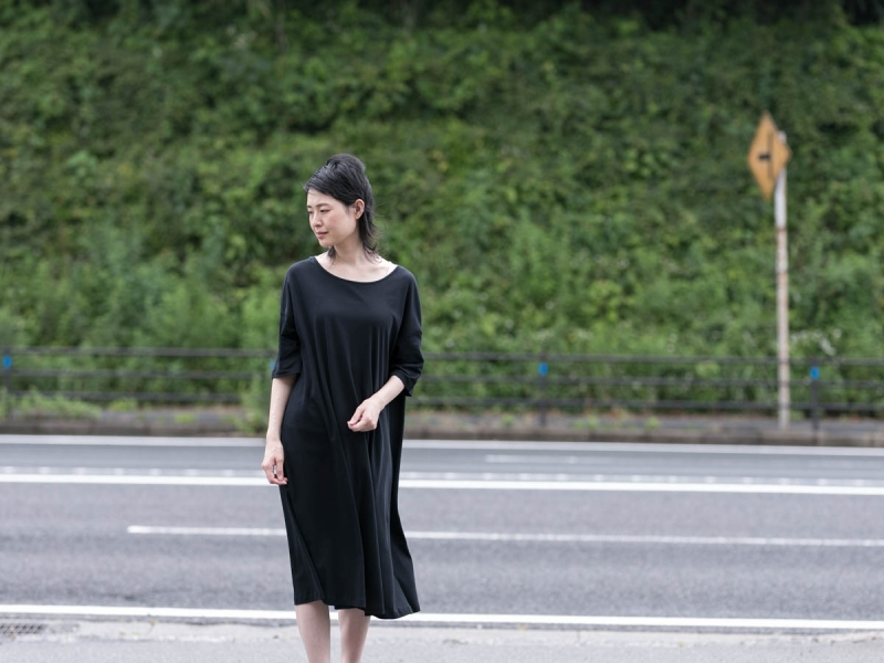 ABOUT the Sensology of Wearのコットンワンピースのブラック