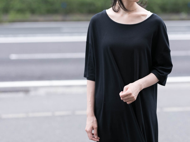 ABOUT the Sensology of WearのコットンワンピースのBlack