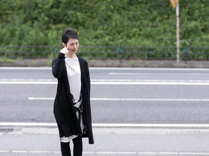 アバウト-センソロジーウェアのFine1 Cardigan/Dress