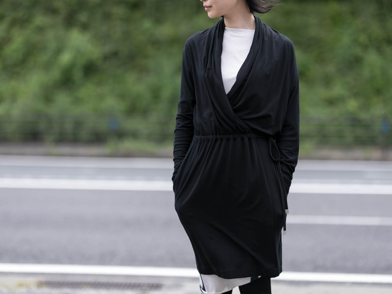AboutのFine1 Cardigan/DressのBlack