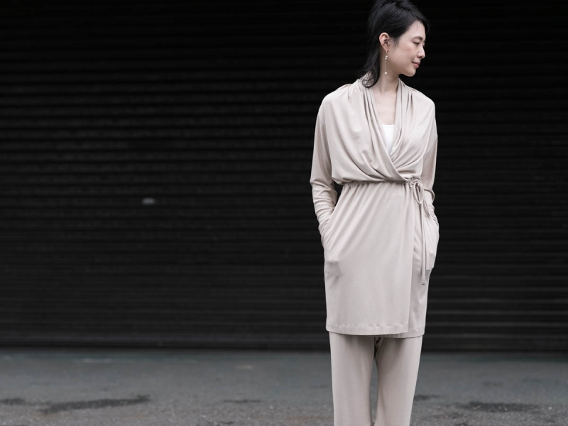 AboutのFine1 Cardigan/Dressのsand beigeのカシュクール