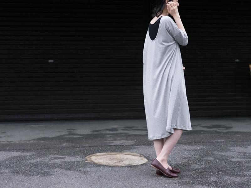 アバウト the Sensology of Wearのコットンワンピースのグレー