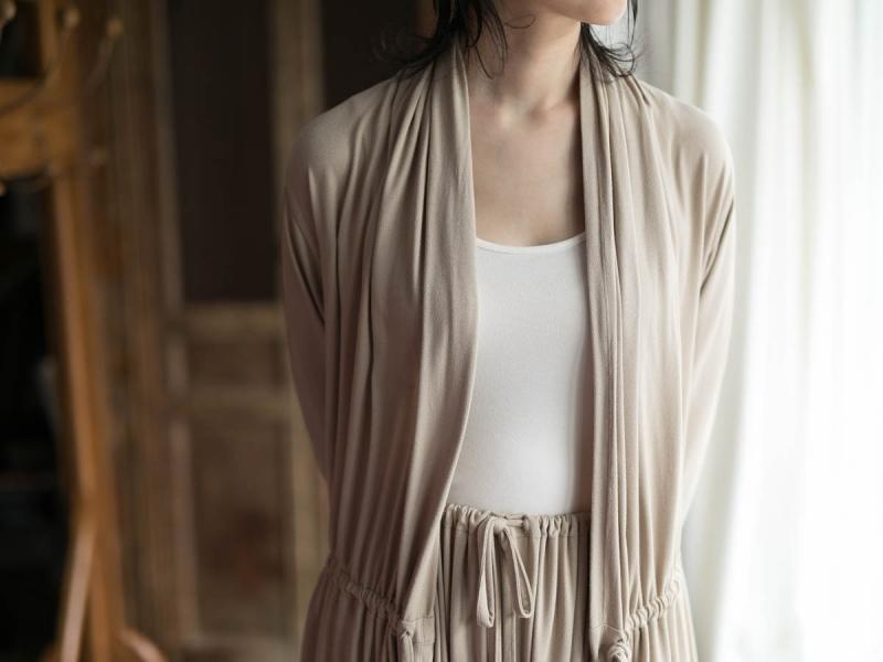 アバウトのFine1 Cardigan/Dressのsand beige