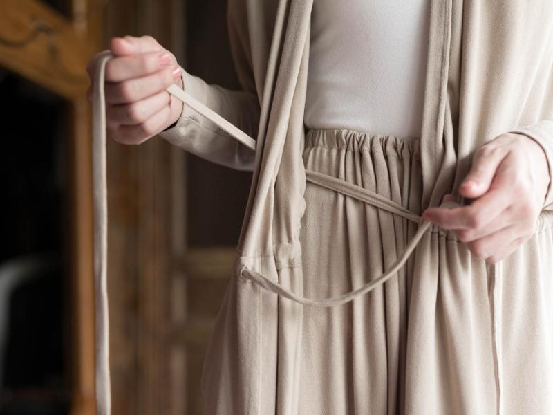 AboutのFine1 Cardigan/Dressのサンドベージュ