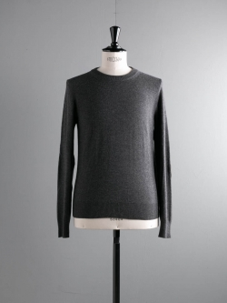 MAISON MARGIELA | WOOL SWEATER WITH ELBOW PATCHES Charcoal エルボーパッチウールニットの商品画像
