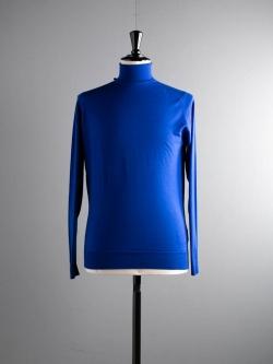 JOHN SMEDLEY | CHERWELL Coniston Blue ウールタートルネックニットの商品画像