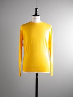 JOHN SMEDLEY | LUNDY Meadow Yellow ウールクルーネックニットの商品画像