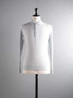 JOHN SMEDLEY | TYBURN Metallic Grey ウールニットポロシャツの商品画像
