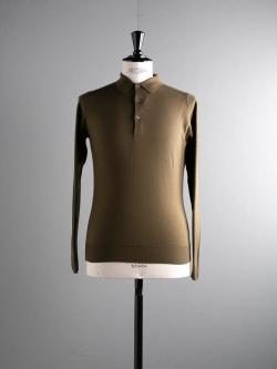 JOHN SMEDLEY | BELPER Kielder Green ウールニットポロシャツの商品画像