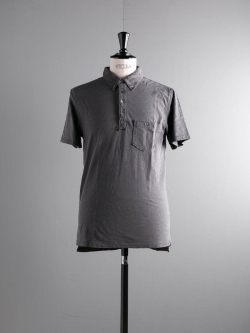 TODD SNYDER | WEATHERED POCKET POLO Charcoal 半袖ポロシャツの商品画像