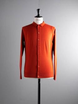 JOHN SMEDLEY | PARWISH Flare Orange ウールニットシャツの商品画像